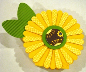 Top Note Box August Sunflower (All Supplies Copyright Stampin' Up!)