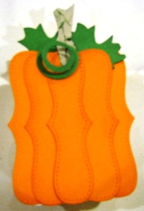 Top Note Box September Pumpkin (All Supplies Copyright Stampin' Up!)