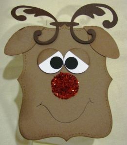 Top Note Box December Reindeer (All Supplies Copyright Stampin' Up!)