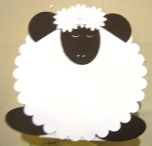 Top Note Box Sheep (All Supplies Copyright Stampin' Up!)