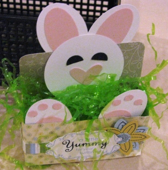 Cute Bunny stamped by Jennifer Thompson.  All Supplies Copyright Stampin' Up!