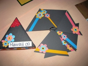 All Supplies Copyright Stampin' Up!  I'm not sure who made this fun triangle album - Wendi Randall?
