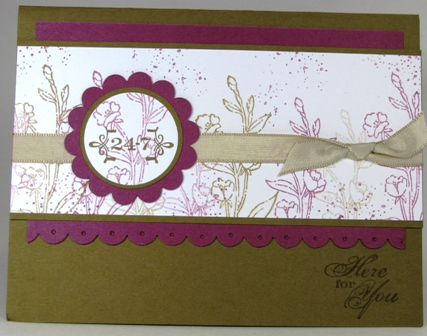 All Images copyright Stampin' Up!  Stamped by Denice marshall