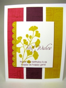 Stamped by Connie Hobbs.  All Images copyright Stampin' Up!