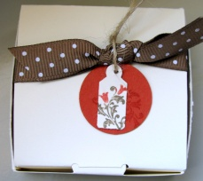 LITTLE VANILLA CARD STOCK BOX AND TAG (all images copyright Stampin' Up!)