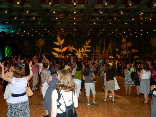 The party after the awards -YMCA always gets them on the dance floor!