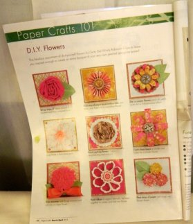 Papercrafts magazine article that Debra LaFountaine used for her sample - see next photo