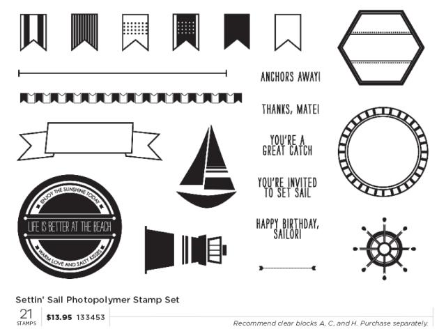 settin' sail photopolymer set