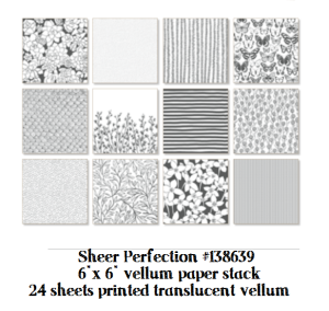 sheer printed vellum