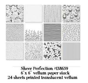 sheer printed vellum