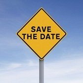 road sign save the date
