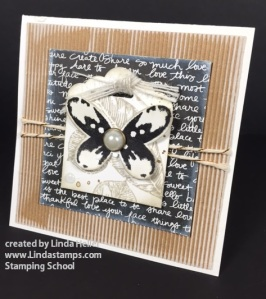 corrugated  butterfly linda heller