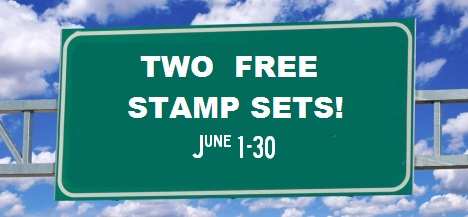 road sign 2 free stamp sets