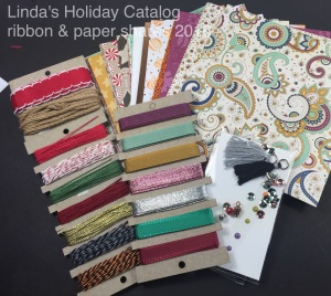 2016 Holiday Catalog Paper and ribbon Shares Linda
